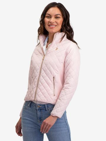 U.S. Polo Assn. - Womens Quilted Side Knit Moto Jacket - Size S