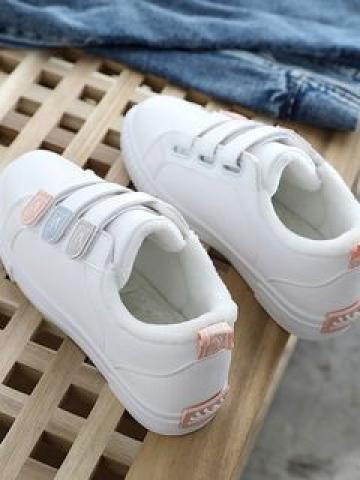 Faux-Leather Fleece Lined Sneakers