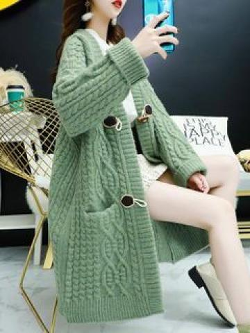 Cable-Knit Long Cardigan