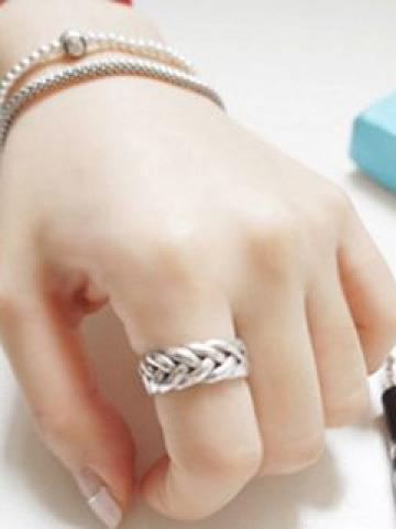 Open Ring Adjustable - Silver - One Size