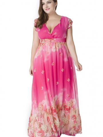 Roseate Flared Gown