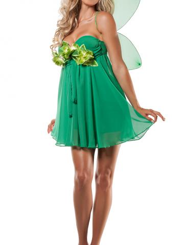 Green Fairy Princess Costume by Yandy Starline, Size S / Green Fariy Costume, Adult Tinkerbell Costume