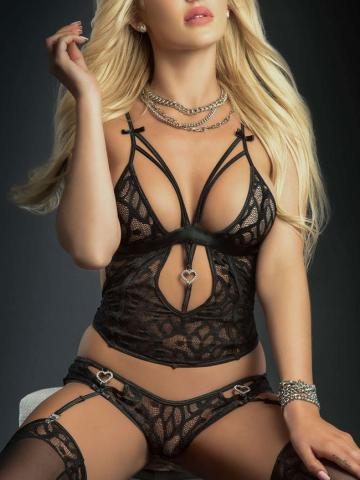 Fade Into Love Cami Set by G World Intimates, Blackout - Yandy.com