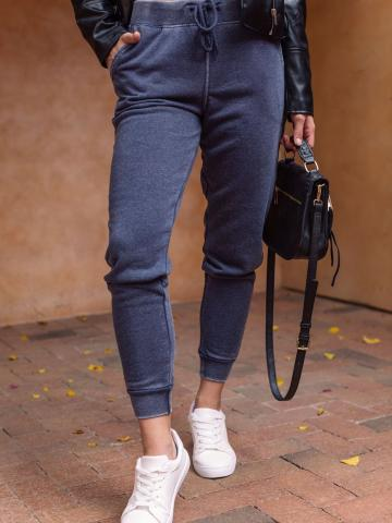 Twiggy Faded Navy Joggers